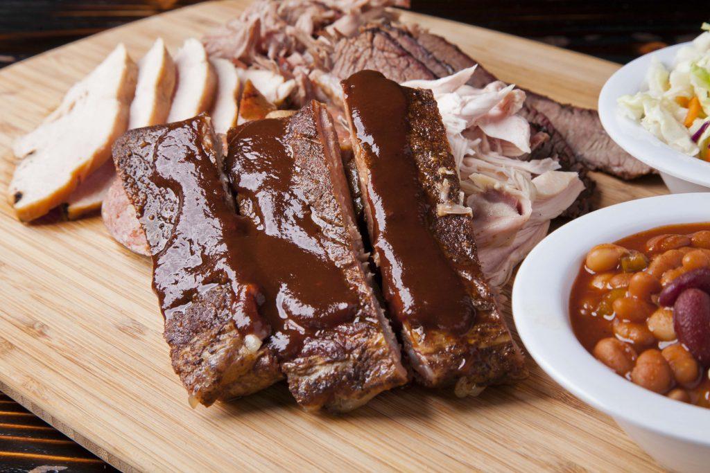 meat sampler rib restaurant